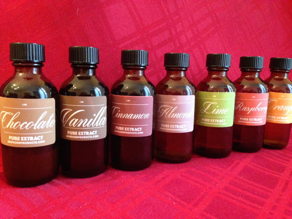 Bottles of Homemade Cooking/Baking Extracts (various flavors)