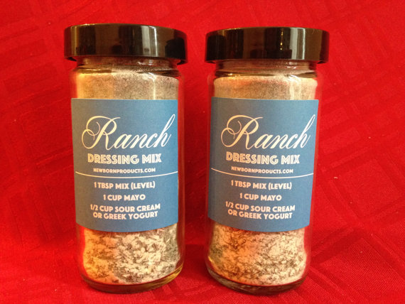 Jars of Homemade Ranch Dressing Mix